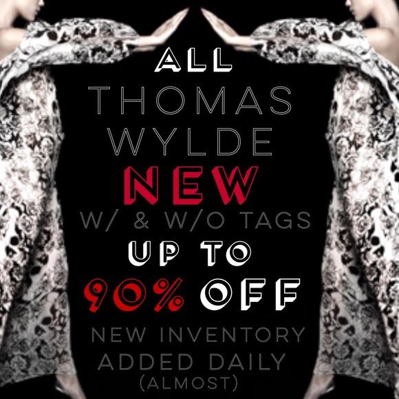 Thomas Wylde Jackets & Blazers - THOMAS WYLDE NEW w/ & w/o tags Incredible SALE!